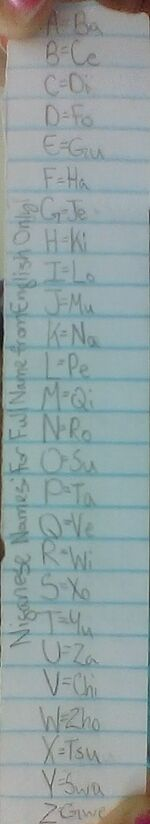 Write your American or English in Niganese