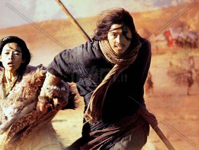 Rechaui, taking Princess Celesestsu with him.