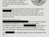 Correspondence: Resignation Letter