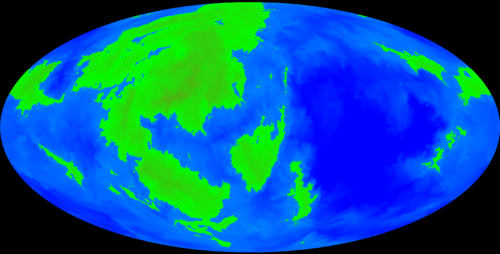 A map of the planet Ugius.