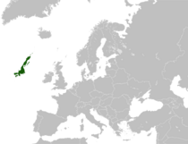 Dark Green: Location of Westland