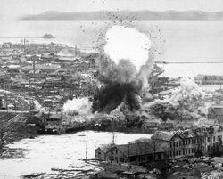 Korean War bombing Wonsan.jpg