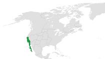 Location of California (Green)