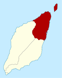 Map of Ivalice with Califia highlighted