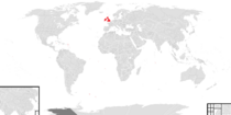 Location of the Confederation of Great Britain and Ireland
