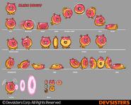 Space Doughnut Early Sprites
