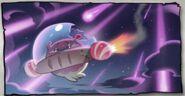 Space Doughnut fleeing its planet