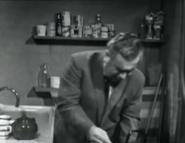 Corrie stan in kitchen jan 1966