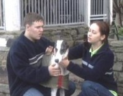 Monica the dog with Tyrone and Maria.png