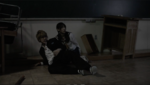 Ayumi and Yoshiki watch Mayu be dragged away