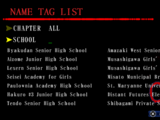 Corpse Party (PSP, iOS)/Name Tag List
