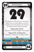 Intimidate card
