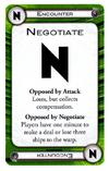 A negotiate card.
