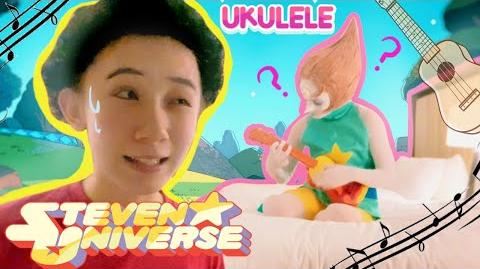 A Ukulele and Pearl Steven Universe Cosplay