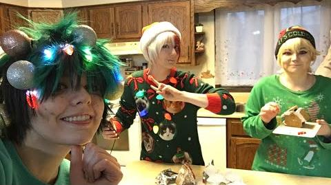 Gingerbread decorating in My Hero Academia Cosplay