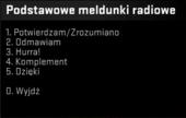 Podstawowe meldunki radiowe