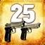Zabij 25 przeciwników przy użyciu dwóch pistoletów Beretta