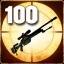 Zabij 100 wrogich snajperów, gdy celują z lunety