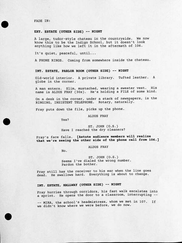 Counterpart STARZ Season 1 Episode 8 Love the Lie Script page 1.jpg