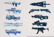 Season 8 painted weapons