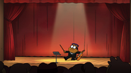 Remy finishes his improvised recital