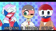 COUNTRYHUMANS Animating In Other Animators' Style Challenge