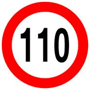 Sign speedlimit 110