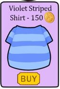 Violet stip shirt in shop