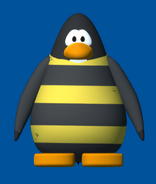 Bee costume player card