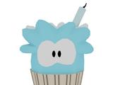 Blue Puffle Cupcake