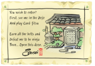 Ninja Hideout Note