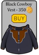 Black cowboy shirt penguin style