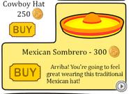 Sombrero in penguin style