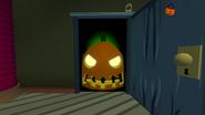 Haunted house pumpkin door
