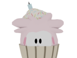 Pink Puffle Cupcake
