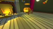 Haunted house bouncing jack o lantern
