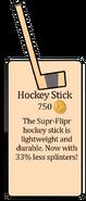 Hockey stick in penguin style