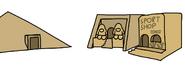 Egyptian Party Ski Village Concept