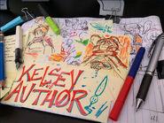 Kelsey the Author promo art Ashley Tahilan