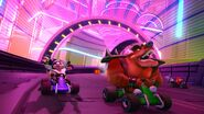 Nitro Fueled Electrons tunnel