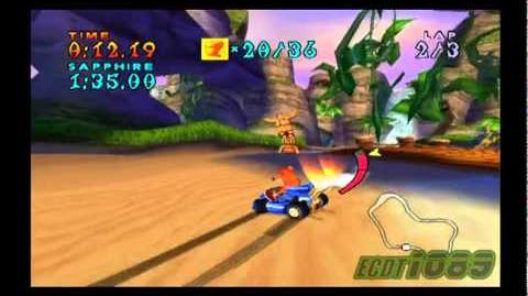 Crash Nitro Kart Walkthrough - Carrera de las Reliquias
