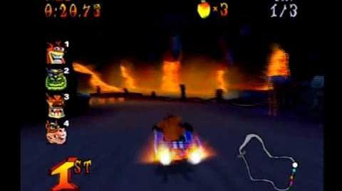 Crash Nitro Kart - Inferno Island - Crash