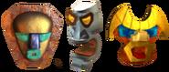 Tiki Masks Crash of the Titans (Nintendo DS)