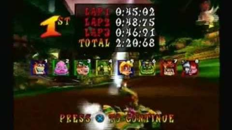 Crash Nitro Kart Walkthrough - Part 3 51 Jungle Boogie Trophy Race