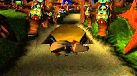 Crash Bandicoot Japanese Version 100% Part 52 - Whole Hog - Stumlin' on the Spring Barrel Thing