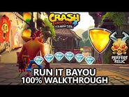 Crash Bandicoot 4 - 100% Walkthrough - Run It Bayou - All Gems Perfect Relic & Yellow Gem