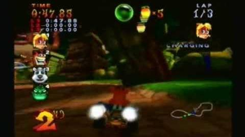 Crash Nitro Kart Walkthrough - Part 6 51 Jungle Boogie CNK Challenge