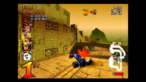 Papu's Pyramid - Trophy Race - Crash Team Racing - 101% Playthrough (Part