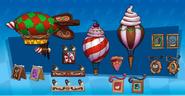 Gingerbread elements concept