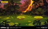 IAT rock blocked swamp concept